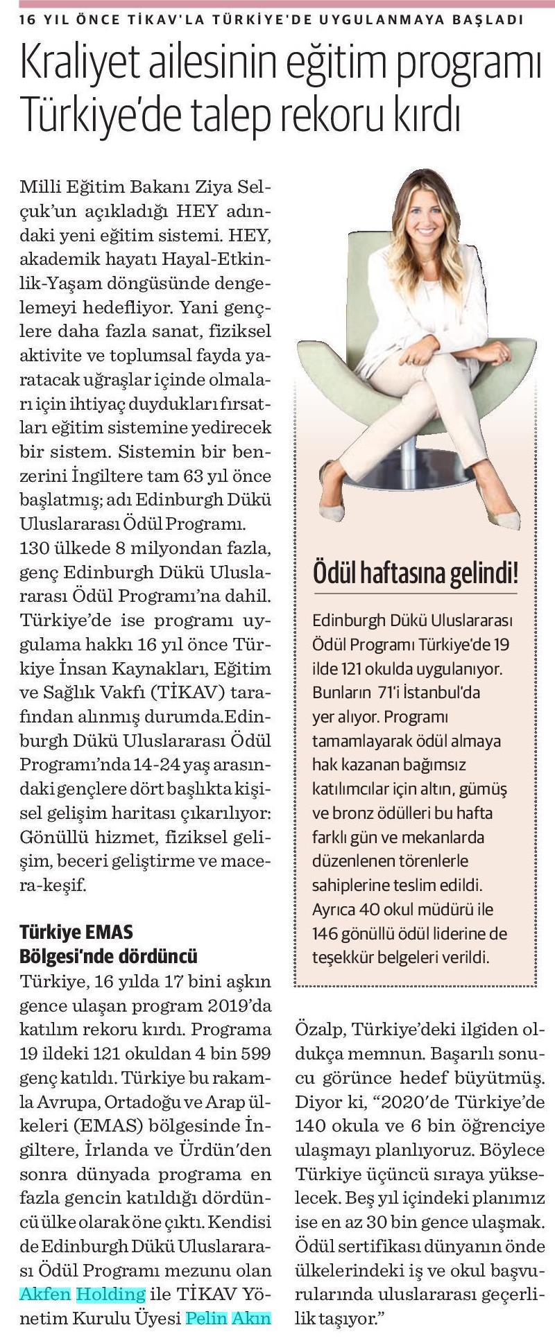 Kraliyet ailesinin eğitim programı Türkiye'de talep rekoru kırdı.