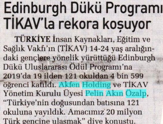EDİNBURGH DÜKÜ PROGRAMI TİKAV' LA REKORA KOŞUYOR
